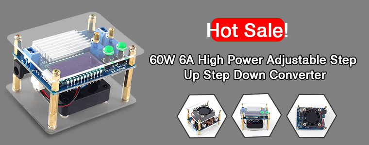 0_13753_60W High-Power Adjustable Buck-Boost Power Supply Module
