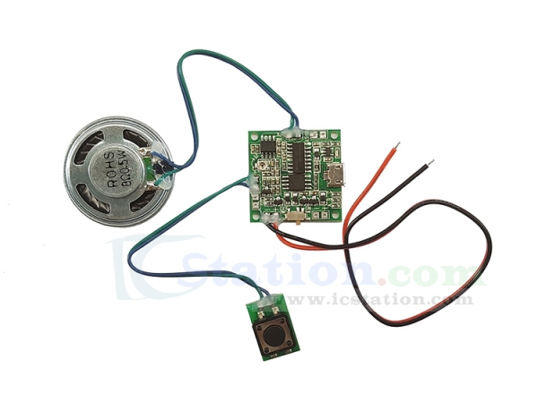 Voice Play Module With Volume Adjustment Lithium Battery