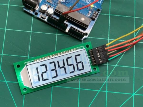 Segment LCD Module 6 Bit 8 Segment 3 Wires SPI HT1621