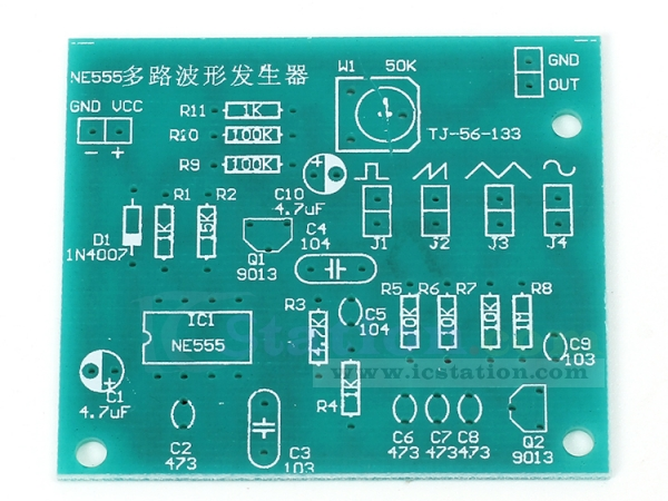 NE555 Multi Waveform Signal Generator Suite DIY Kits