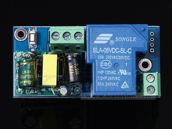 Wifi Relay Switch Module High Power Self-Lock Mode AC 220V