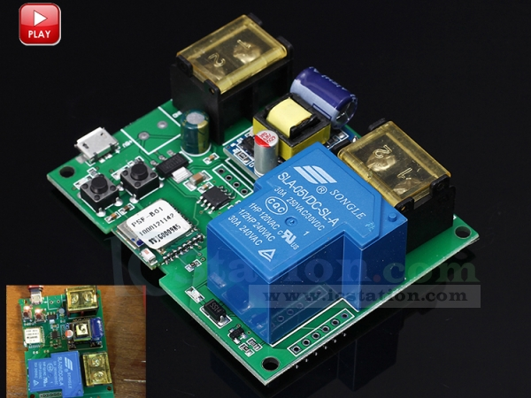 wifi remote control relay switch module ac 220v high power 6000w phone app remote timer switch for