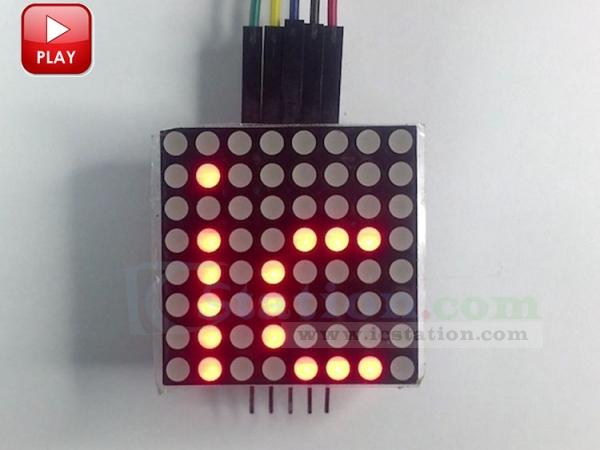 MAX7219 Dot Matrix Display LED Matrix Display Module for Arduino MCU
