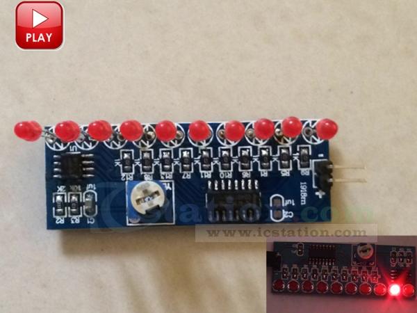 DIY Kit NE555+CD4017 10 CH LED Light Water Electronic Suite Circuit Board