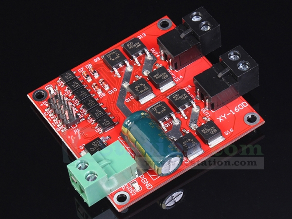 7A 160W Double-Channel DC Motor Driver Module Positive/Negative Rotate PWM Speed Regulation