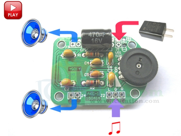 Mini AKE-1 PAM8403 Power Amplifier Speaker DIY Kit Board