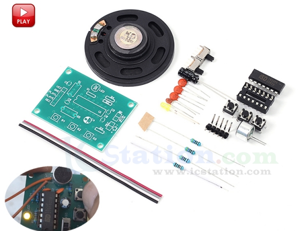 DC 3~5V ISD1820 Recorder Voice Recording Module With Mic Sound Audio+Loudspeaker