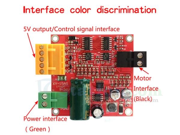 DC Motor Driver Board Module PWM Speed Controller DC 12V 24V 36V 15A