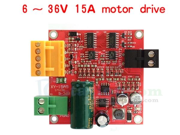 DC Motor Driver Board Module PWM Speed Controller DC 6V 12V 24V 36V 15A Regulator Module