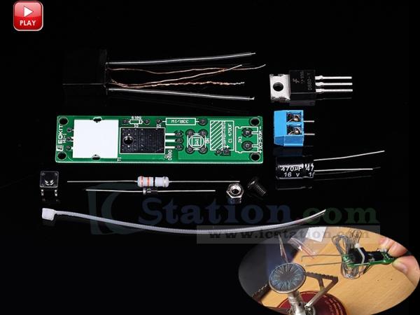 DC 3-5V 3A DIY Kit HV-1 High Voltage Igniter Kit Arc Ignition Generator Suit DIY