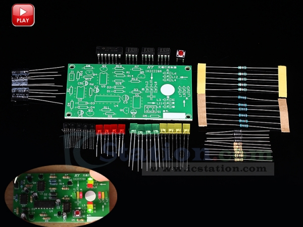 NE555 Traffic Light Circuit Kit Analog Signal Simulator Module Suite