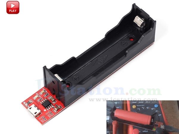 0.8A 0.5A 5pcs 18650 Battery Charging Holder Charging Board TP4056 0.3A
