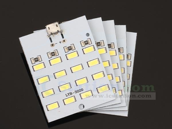 Super Bright 16 20 LED MICRO USB Mobile Power Light Emergency lamp lighting 5730