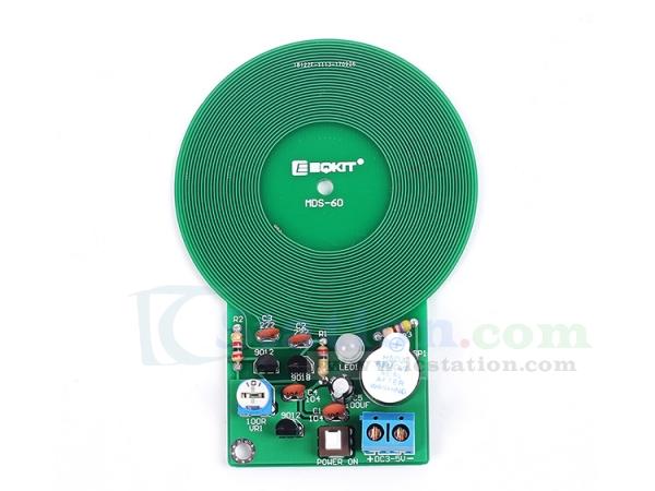DIY Kit Metal Detector Kit Electronic Kit DC 3V-5V 60mm Non