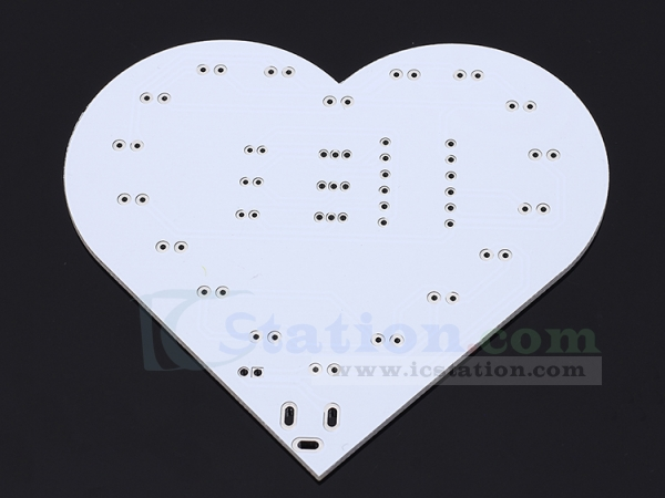 Awesome Colorful Flashing Led Flash Light Kit Led Lamp Love Heart Shaped Wiring 101 Capemaxxcnl