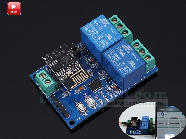 DC5V ESP8266 Four Channel Wifi Relay IOT Smart Home Phone APP Rte Control Switch