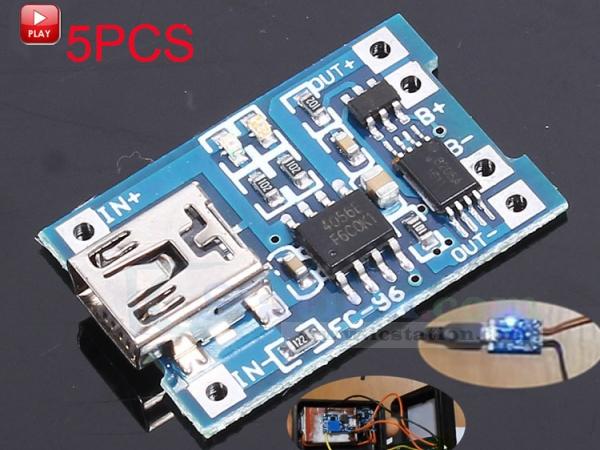 UK Free P/&P Mini USB Lithium Battery Charging Board 1A-5V