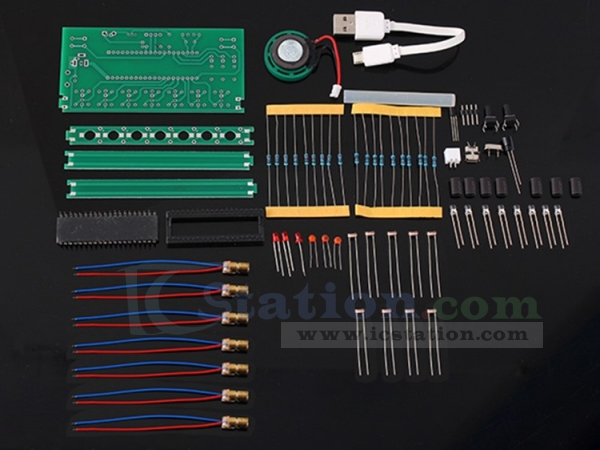 DIY Kit C51 MCU Laser Harp Kit String Electronic Keyboard Kit DIY