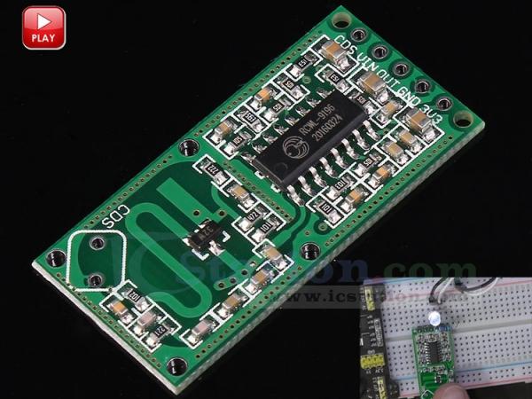 5PCS RCWL 0516 Microwave Motion Sensor Module Radar Sensor Body