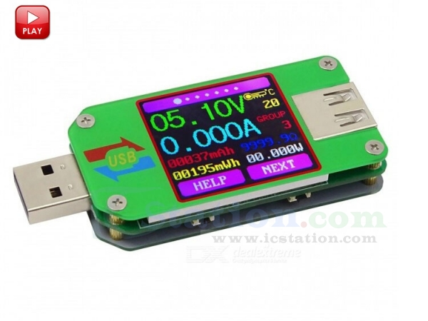 USB Tester Voltmeter Ammeter Voltage Current Power Capacity LCD Display Detector