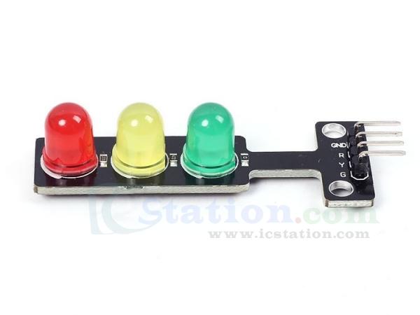 DC 5V mini led traffic light module 5mm red yellow green color led displayju