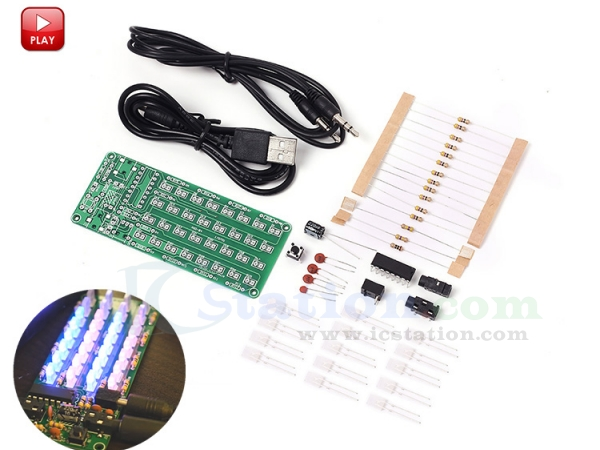 5Pcs DIY Kits LM358 Breathing Light Suite Electronic Components DC 9V