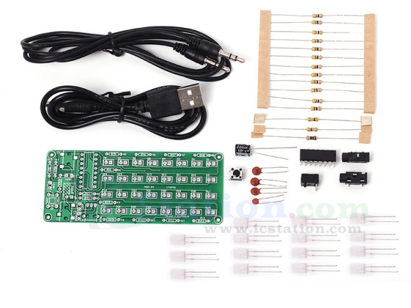 ASD-84 Audio Spectrum Display 8x4 DIY Kit Music Level