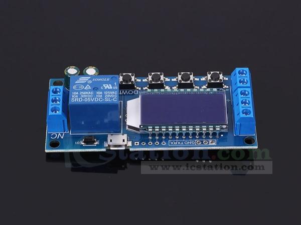 Micro Usb Digital Lcd Display Time Delay Relay Module 6