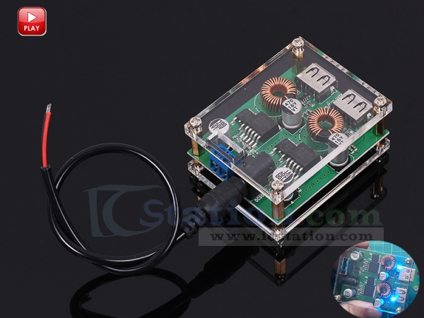 DC DC Step Down Power Supply Buck Converter Double USB