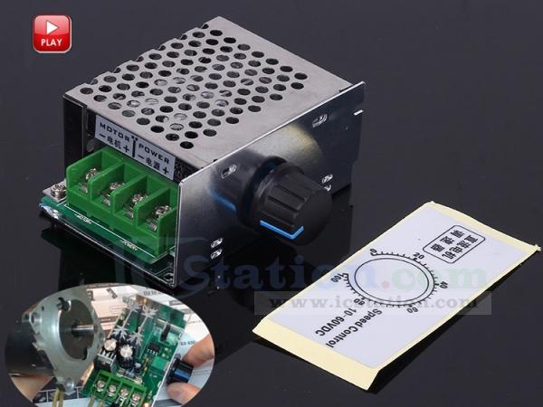 PWM DC Motor Speed Controller Regulator Switch Potentiometer