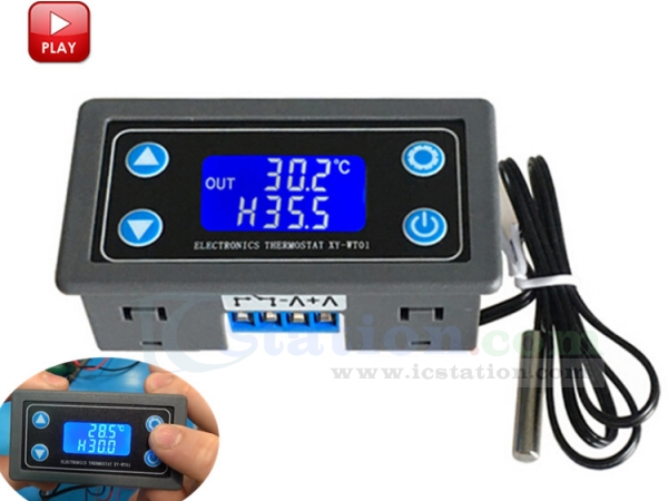 Digital LED Display Temperature Thermostat Refrigeration Heating Controller