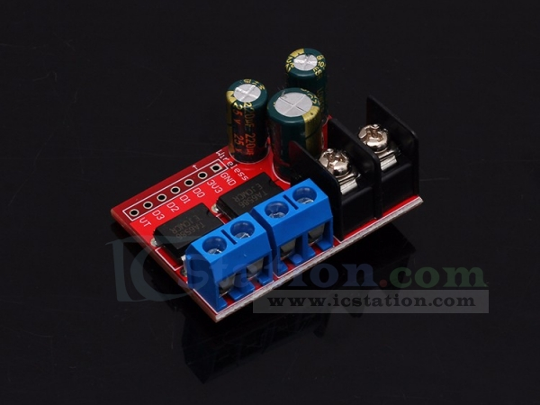 5A Dual Motor Drive Module Remote Control Forward and Reverse PWM Speed Regulation Double H Bridge Over L298N