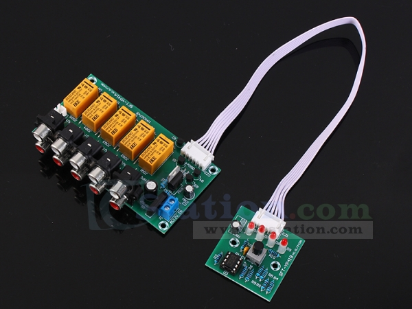 Audio Input Signal Selector Module 4 In 1 Out Relay Audio Switching