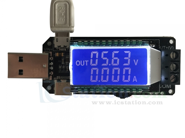 DC-DC Adjustable Potentiometer Step Up//Down Converter Module with LED Digital Display Voltage Stabilizer USB Power Supply Regulator Module