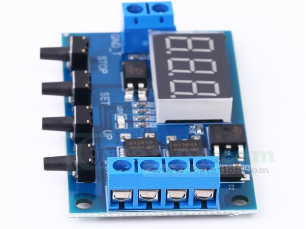 Trigger Cycle Timer Delay Relay Switch Module MOS Tube Pulse Generator w// Shell