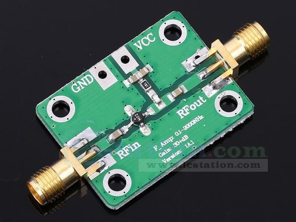 0.1-2000MHz RF Wideband Amplifier 30dB low-noise LNA Broadband Module Receiver