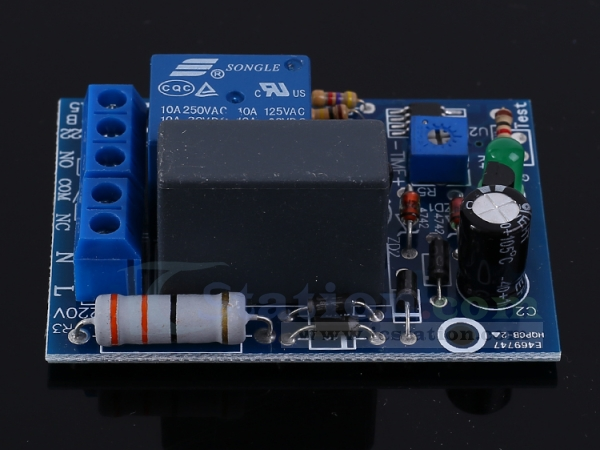 100s Time Delay Relay Module AC 220V Adjustable Device Power