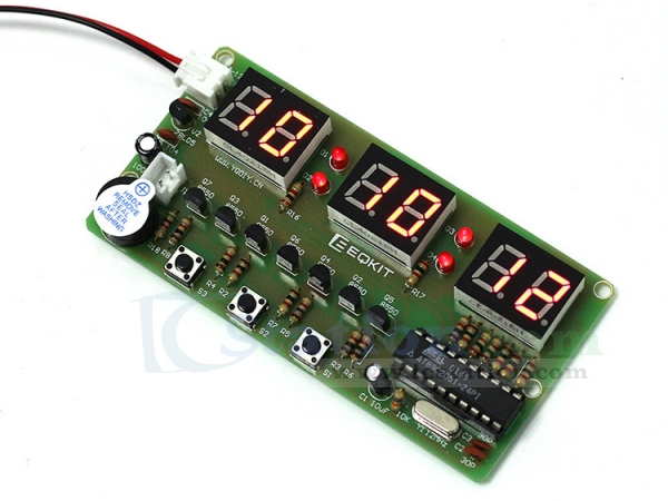 C51 Digital Electronic Clock Kits 6 Bits Electronic Parts and Components Kit DIY