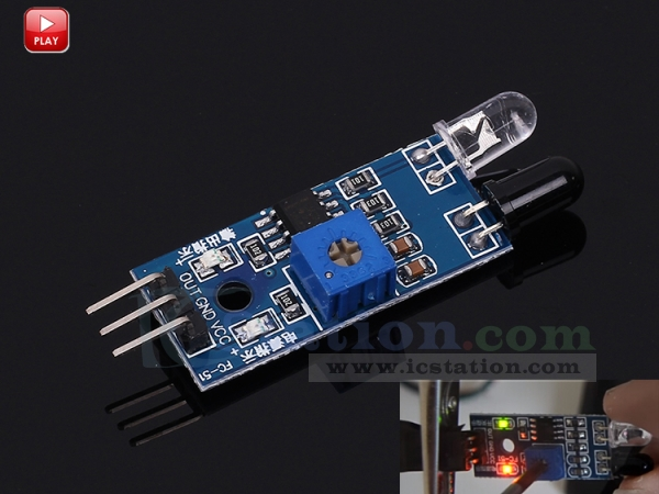 Obstacle Avoidance Infrared Sensor Module Reflection Photoelectric