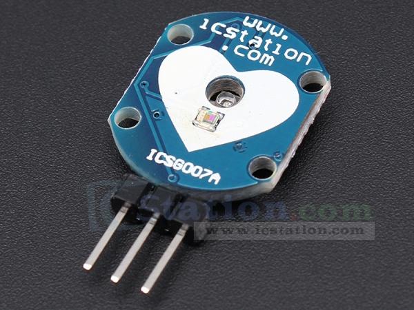 ICStation Heartbeat Sensor Pulse Sensor Heart Rate Sensor Module for