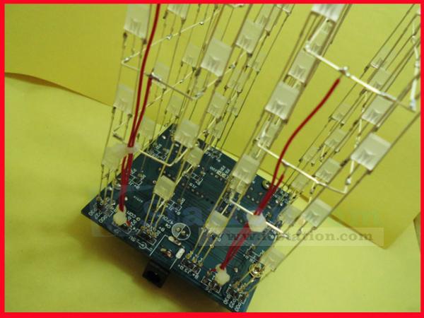 3D LightSquared DIY Kit 4x4x4 2*5*7MM LED Cube White LED