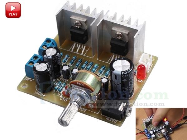 ICStation TDA2030A DIY Kit 2 0 15W+15W Dual Channel Audio