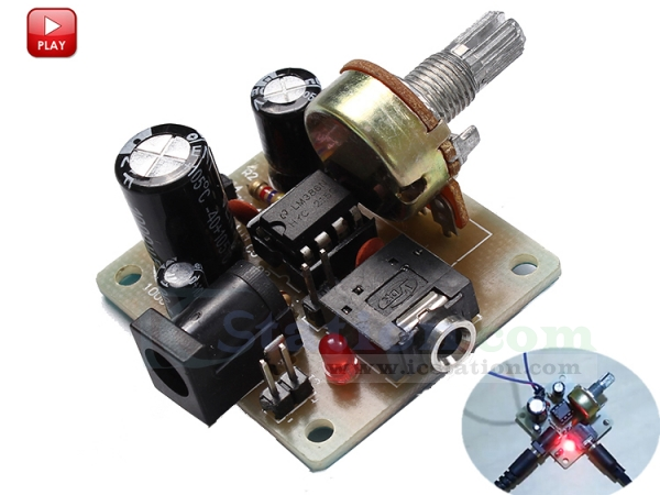 ICStation ICSK025A DIY Kit Mini Power Amplifier LM386 Audio