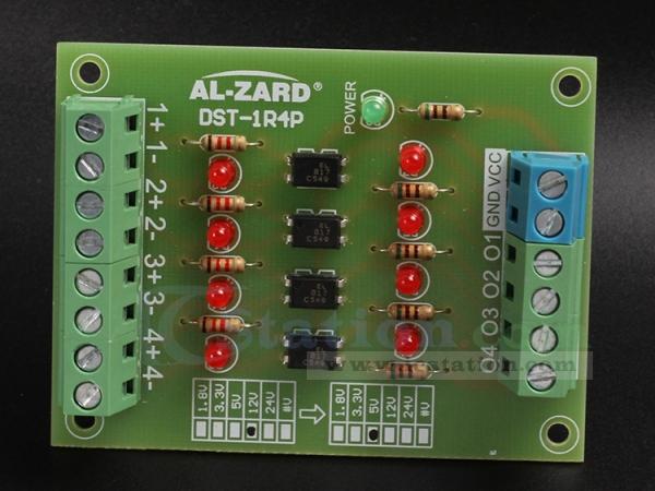 4bit optocoupler isolator 5v to 24v level voltage converter board plc  signal