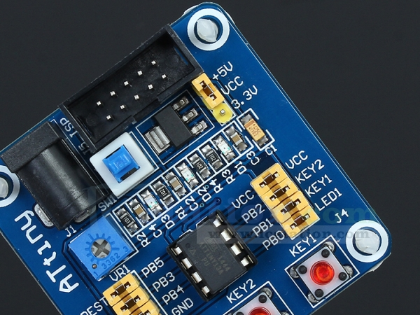 Attiny13 AVR Development Learning Board Experimental Test