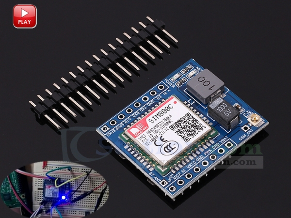 SIM800C GSM GPRS Module 5V/3 3V TTL IPEX with Bluetooth and