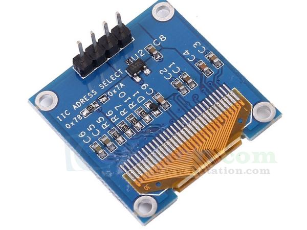 0.96 inch I2C IIC Serial 128X64 Yellow Blue OLED LCD LED Display Module SSD1306