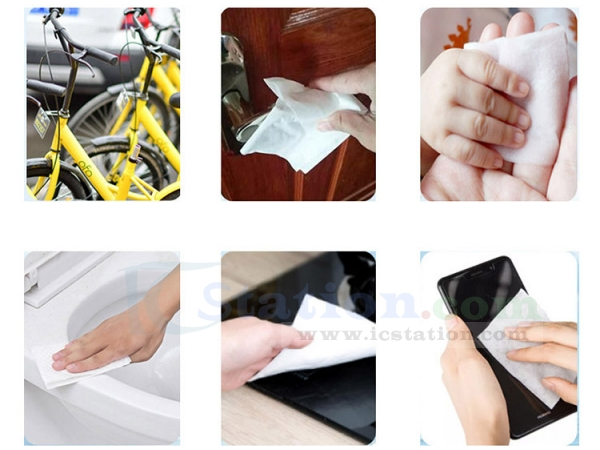 Restaurant Wipes Portable Cleaning Wipes Wet Wipes for Tourism Car Elevator【60 Sheets Wipes】 Home Hotel Office 75/% Alcohol Wet Wipes
