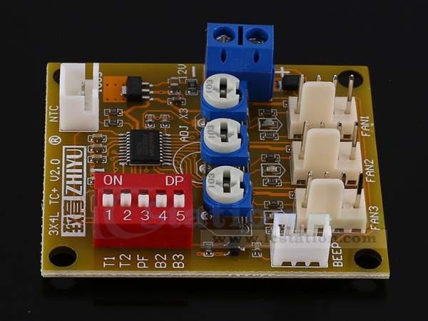 12V 3A PWM Fan Temperature Control governor pwm Thermostat Speed w Stop alarm