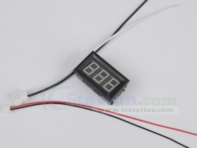 Yellow LED Panel Meter DC 0 To 10A Mini Digital Ammeter with Box